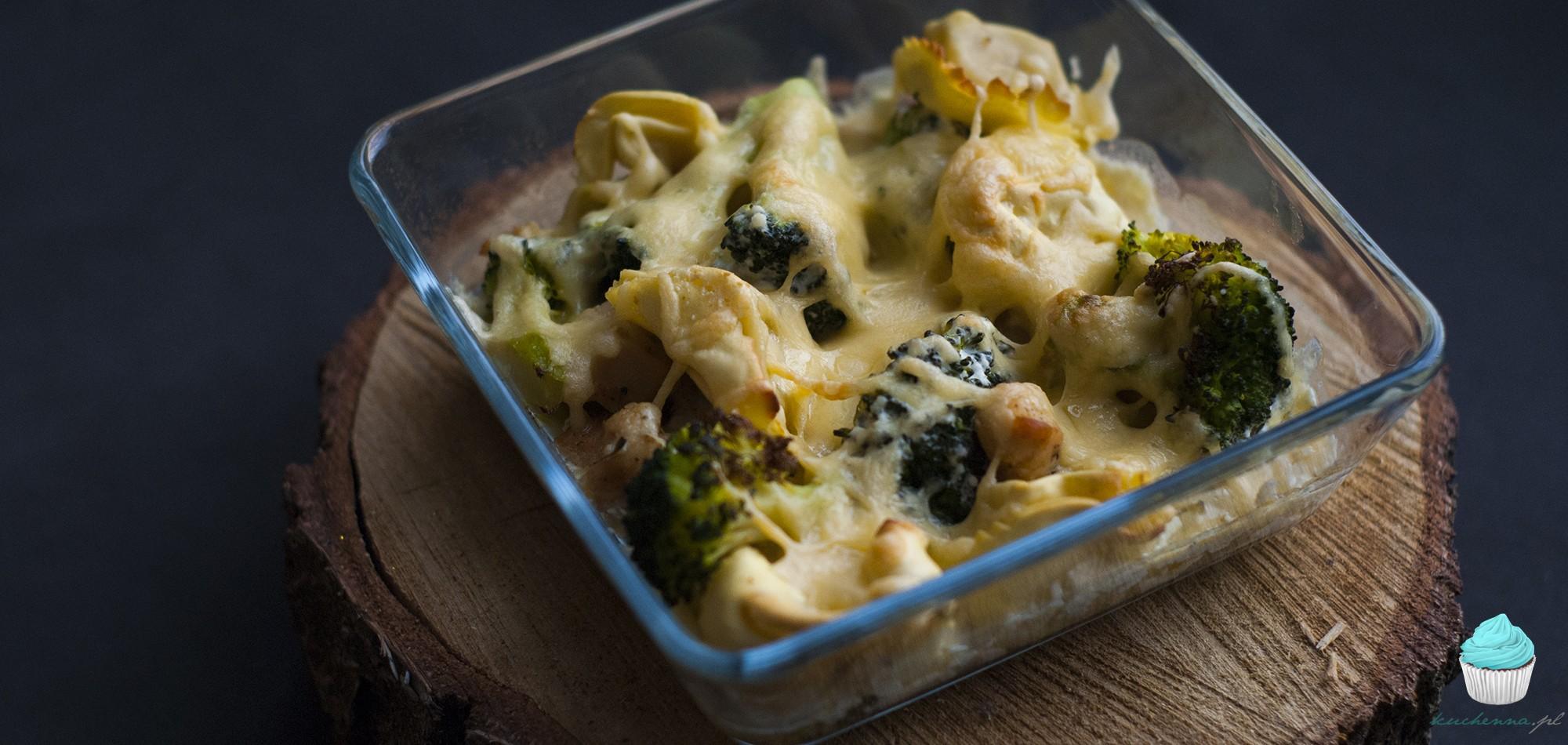 Zapiekanka tortellini broccoli